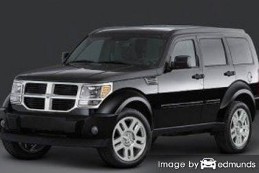 Insurance rates Dodge Nitro in San Diego