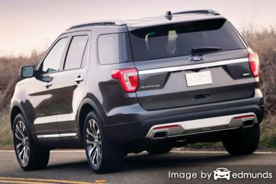 Insurance quote for Ford Explorer in San Diego