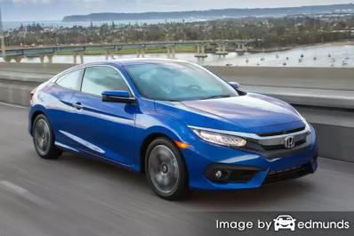 Insurance rates Honda Civic in San Diego