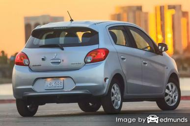 Insurance rates Mitsubishi Mirage in San Diego