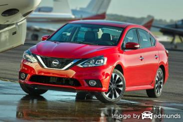 Insurance rates Nissan Sentra in San Diego