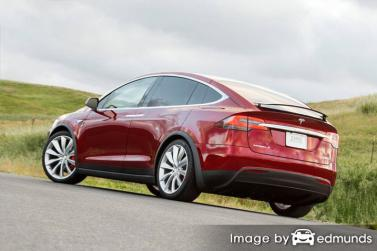 Insurance rates Tesla Model X in San Diego