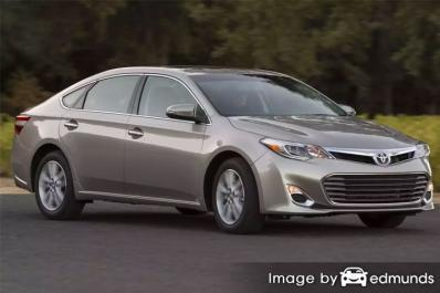 Insurance rates Toyota Avalon in San Diego